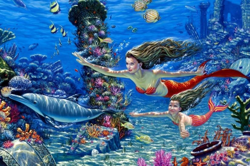 Mermaid Background ·① Download Free Stunning Full HD