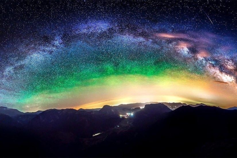 Milky Way Galaxy From Earth Wallpaper Planet .