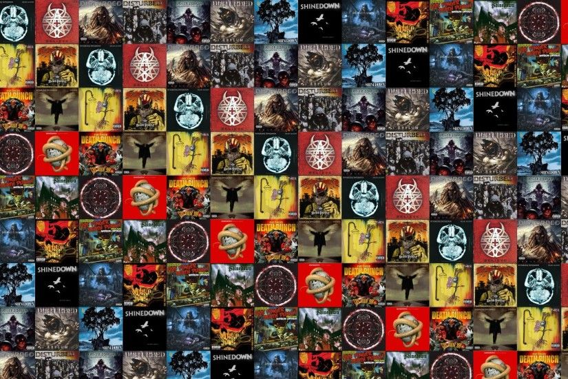 Download this free wallpaper with images of Five Finger Death Punch – War  Is The Answer, Breaking Benjamin – Dear Agony, Disturbed – Beleive, ...
