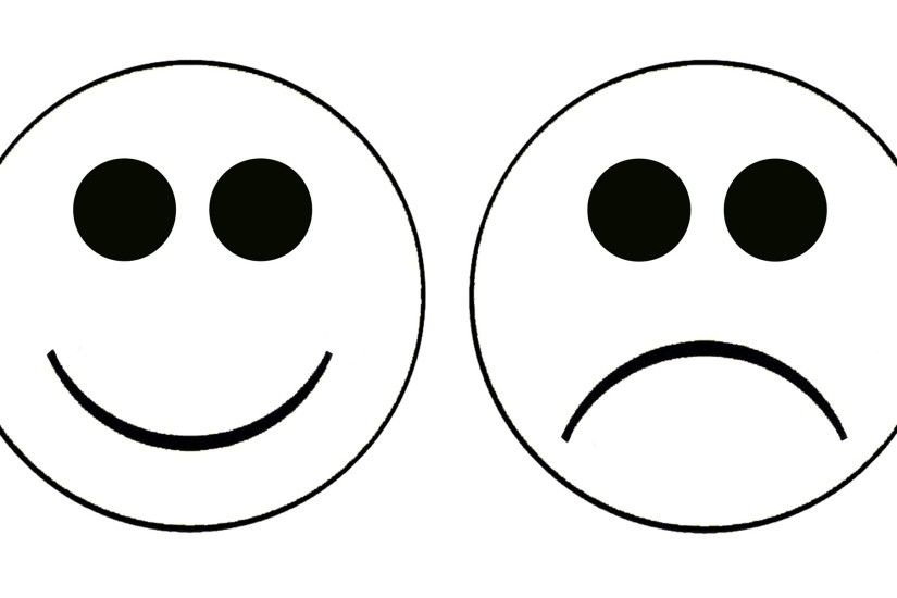 Smily Face and Sad Clipart