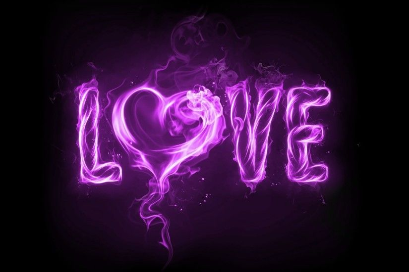 Purple Love Fire Black Wallpaper HD Desktop Background Wallpaper Res: Added  on March 17 Tagged : Wallpaper Wallpaper at MoshLab Wallpaper