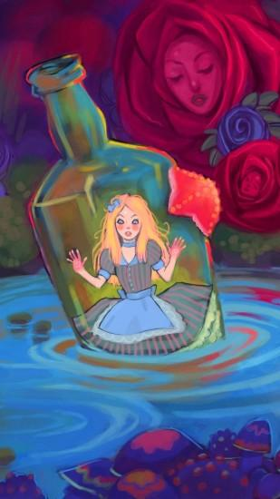 widescreen alice in wonderland wallpaper 1080x1920 for computer