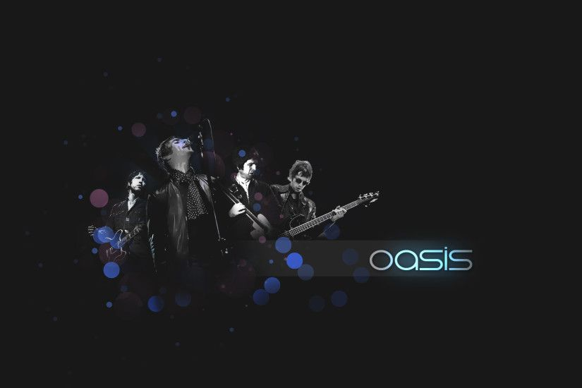 Preview wallpaper oasis, band, members, sign, instruments 1920x1080
