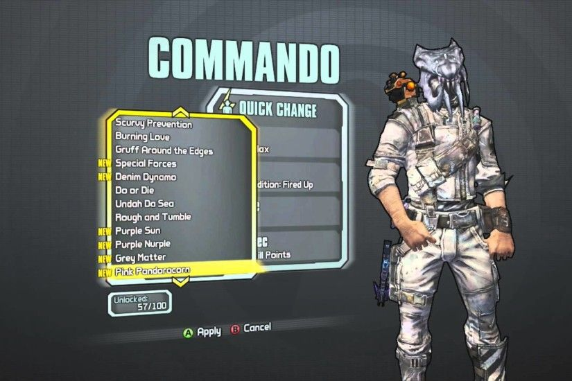 Borderlands 2 - Axton the Commando's To The Max Head (Headhunter Day 5 DLC)