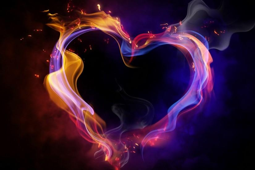 download cool color abstract heart wallpapers for desktop :