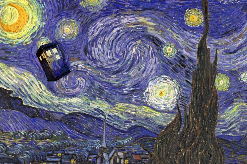Doctor Who, Vincent Van Gogh, TARDIS Wallpapers HD / Desktop and Mobile  Backgrounds