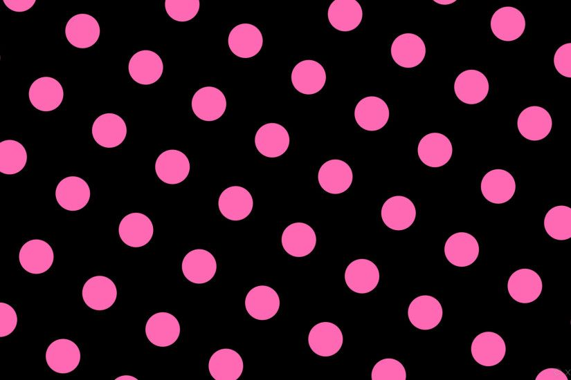 wallpaper pink black spots polka dots hot pink #000000 #ff69b4 240° 98px  207px