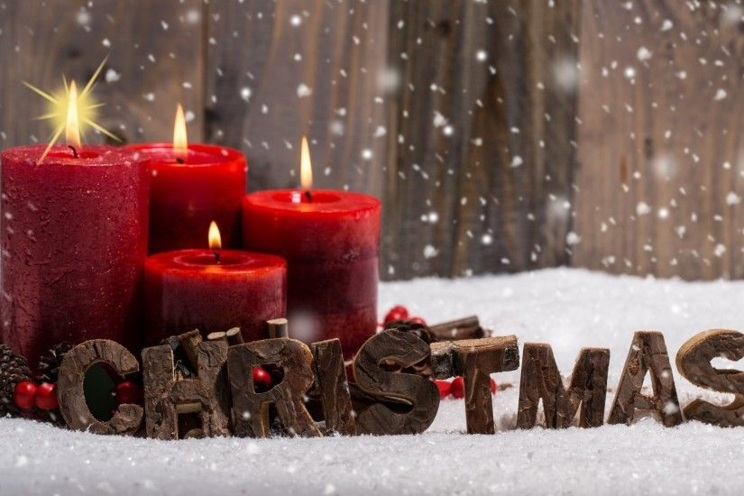 Preview wallpaper christmas, candles, snow 3840x2160