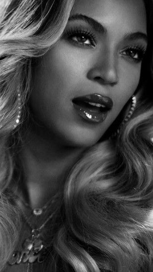 Preview wallpaper beyonce, singer, celebrity, black white 1080x1920