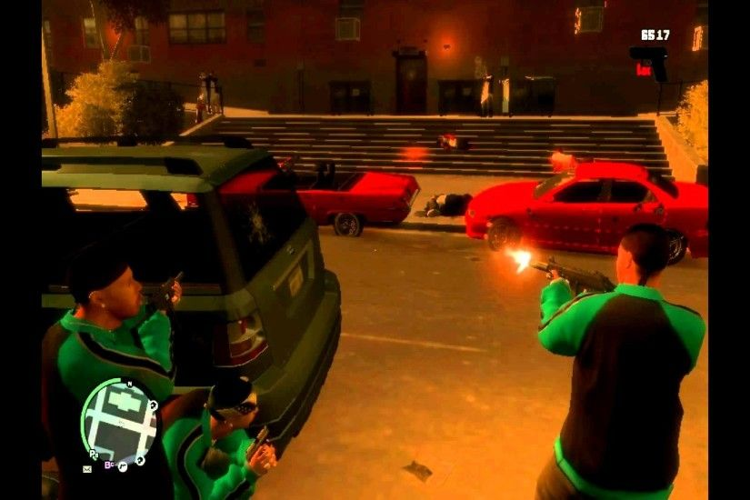 gta 4 bloods vs crips turf war part 2