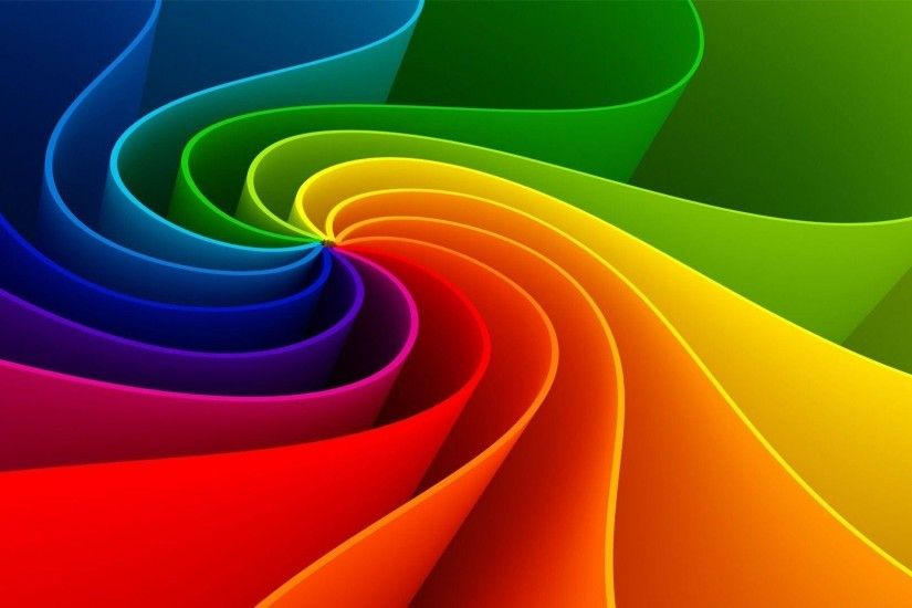 Rainbow Flower Abstract Wallpaper | High Definition Wallpapers
