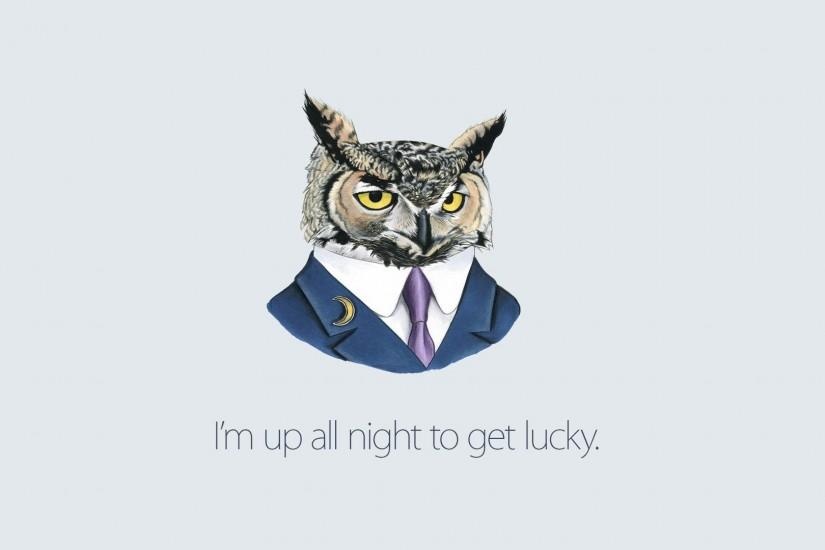 drawing, Suits, Daft Punk, Owl, Artwork, Digital Art, White Background