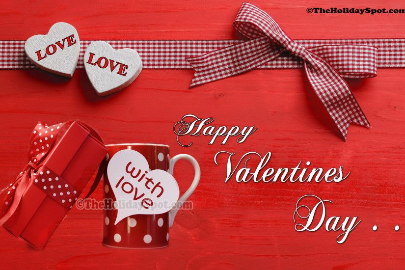 Valentine's Day gifts wallpaper with wishes