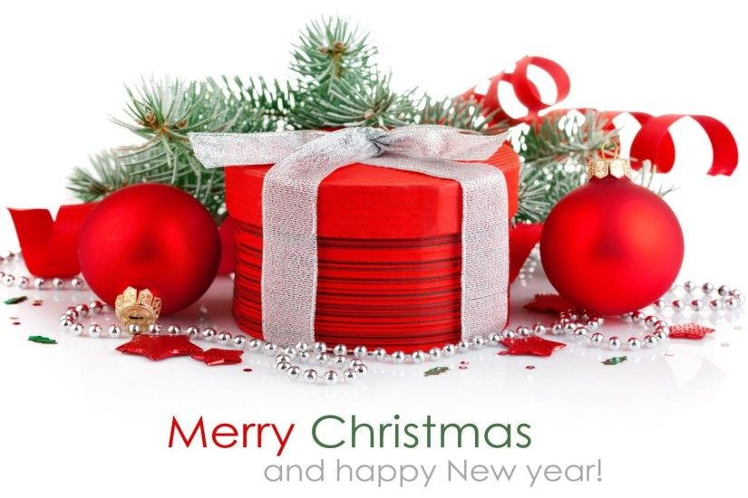 Merry Christmas and Happy New Year Widescreen Wallpaper.