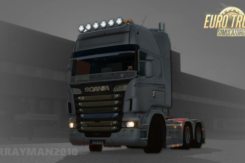 ... Euro Truck Simulator 2: Scania Wallpaper by MrRayman2010