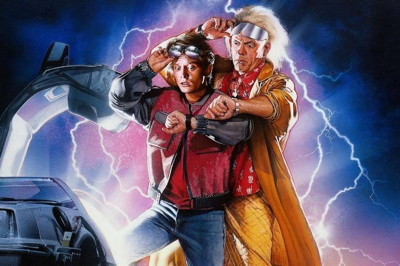 Preview wallpaper back to the future, michael j fox, marty mcfly,  christopher lloyd