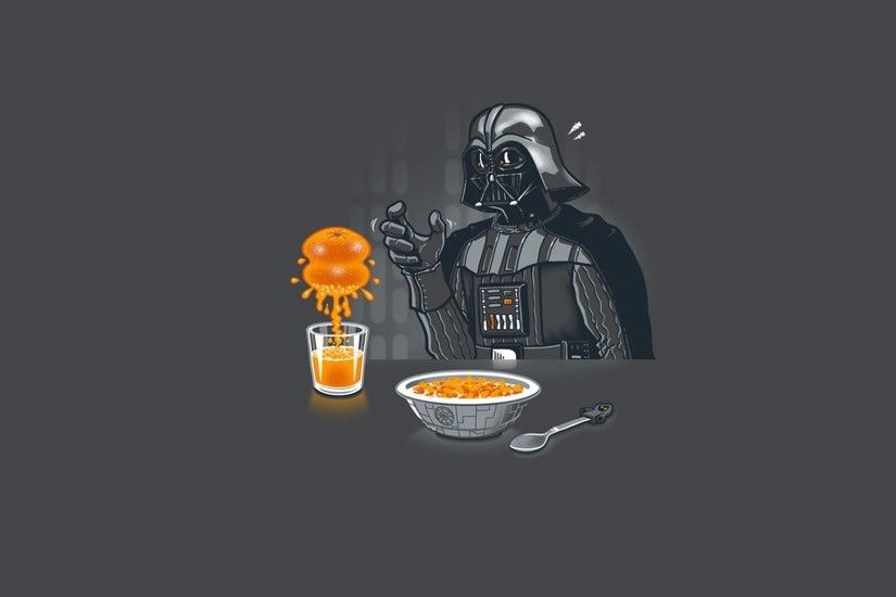 Darth Vader Having Breakfast Star Wars Free Wallpapers - 1920x1080