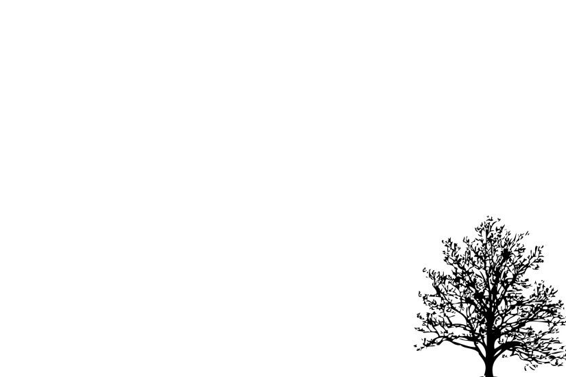 Minimalistic Simple Background Trees White Background » WallDevil .