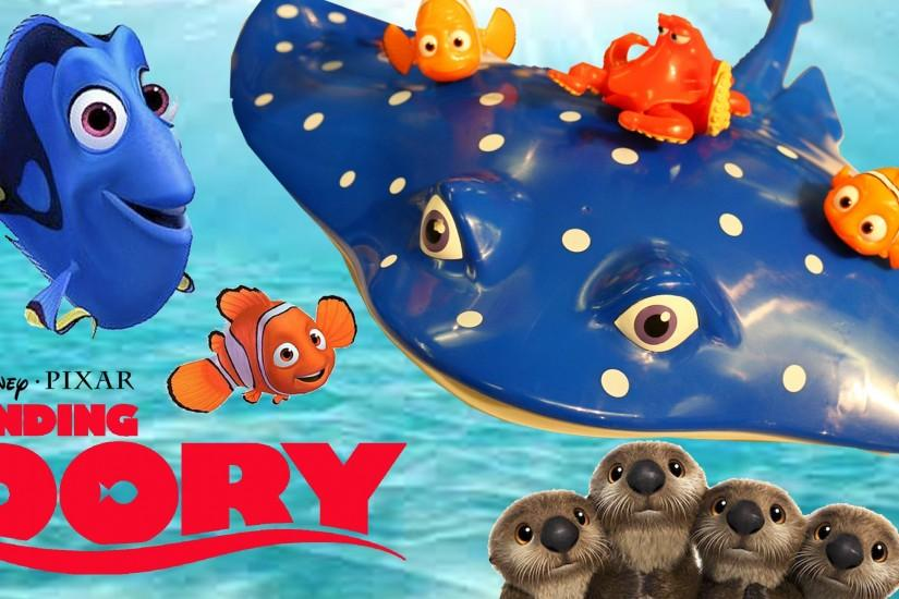 New FINDING DORY Toys Disney Finding Nemo 2 Mr Ray, Otters, Destiny, Hank &  Bailey Playsets - YouTube