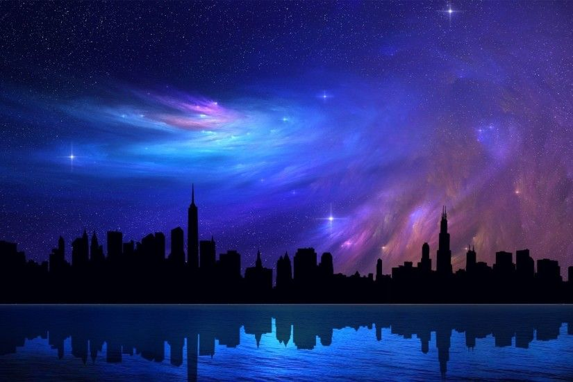 Beautiful Night Sky City