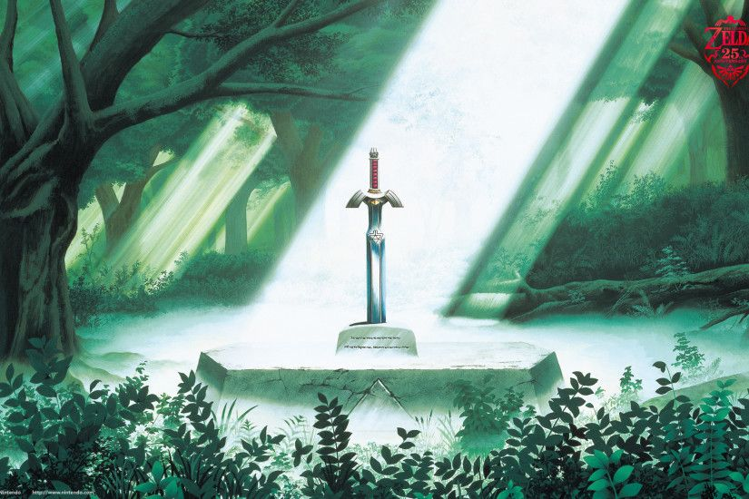 The Legend of Zelda Wallpaper (Link to the Past) – The Master Sword Rests  In The Lost Woods