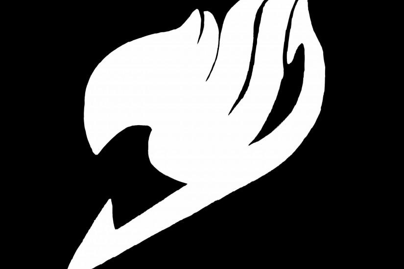 Black and White Fairy Tail Logo Wallpaper HD Free Download.