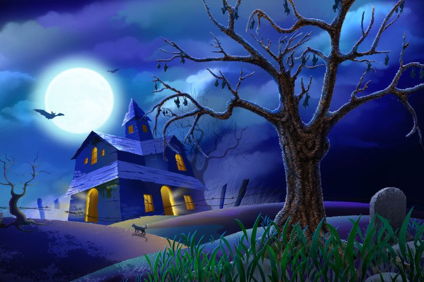 ... Fantastic Gallery of Halloween Haunted House Backgrounds: 1920x1200 px,  Ira Gillooly ...