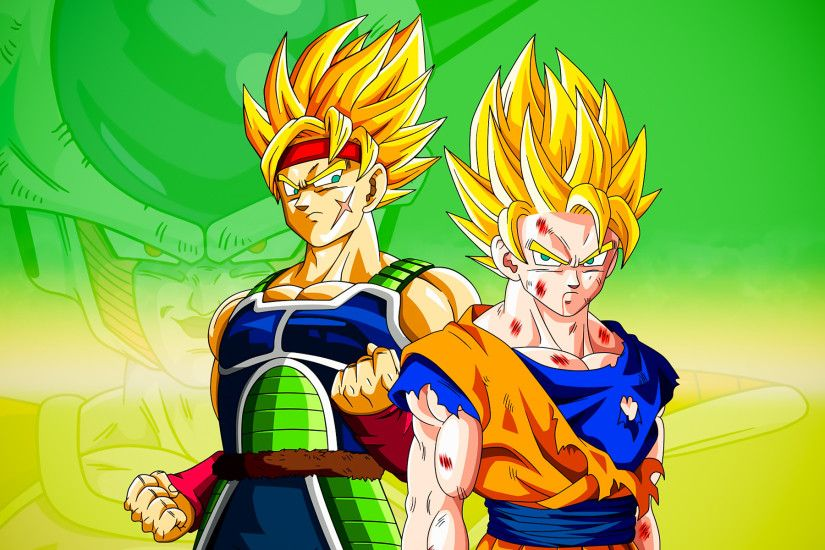 Bardock and Goku Widescreen by psy5510