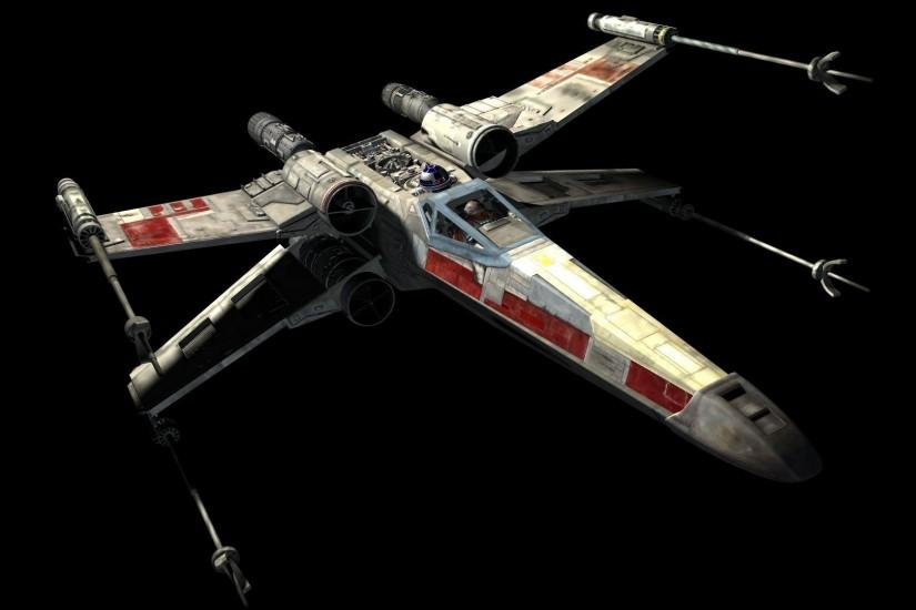 Star Wars, X wing, Space, Movies, Black Background Wallpaper HD