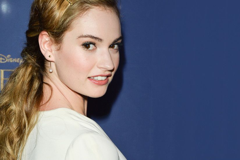 Lily James at the Cinderella premiere wallpaper