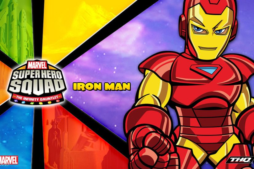 marvel super hero squad the infinity gauntlet iron man widescreen wallpaper