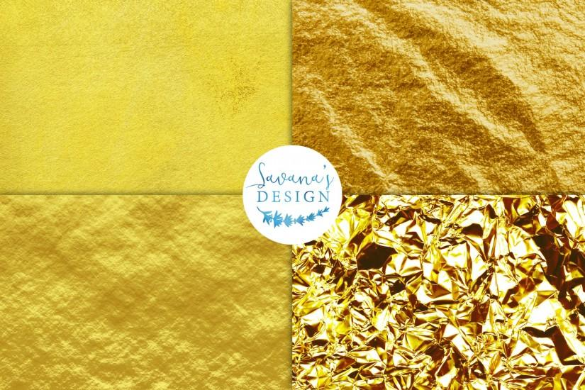 Gold Foil Backgrounds – Digital Background Paper