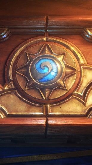 Preview wallpaper hearthstone, heroes of warcraft, box, sword, smoke,  pattern 1080x1920