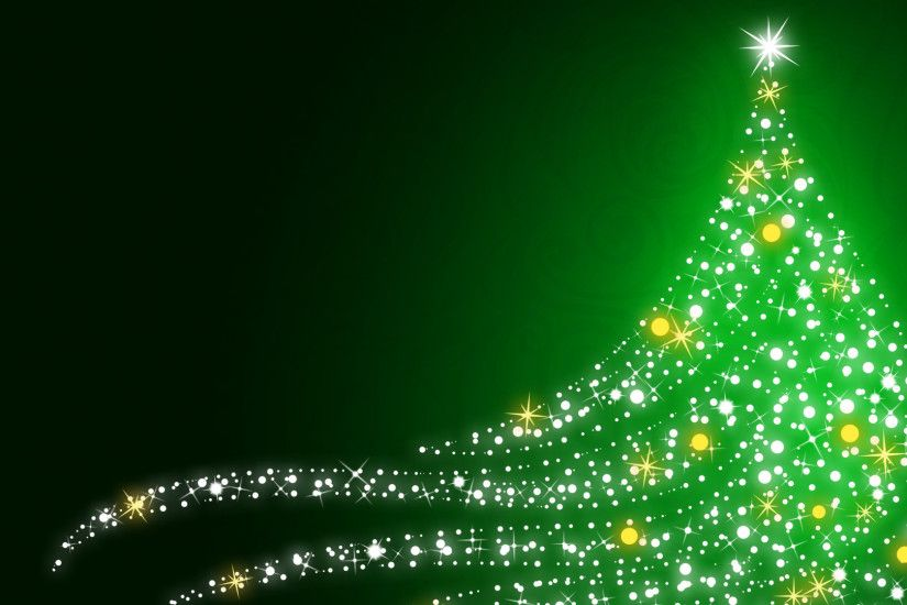 Sparkling Christmas tree HD Wallpaper 1920x1080 Sparkling ...