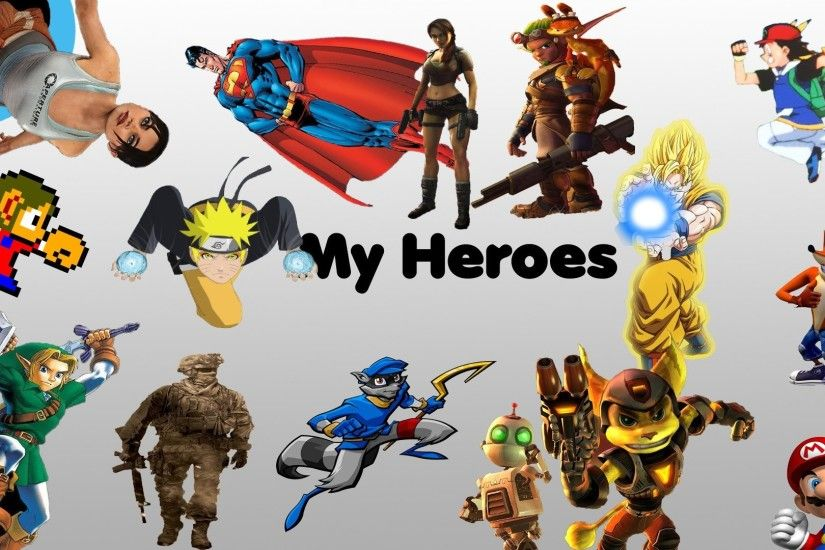 Pokemon Portal Link Superman Mario Ratchet and Clank heroes Lara Croft  Naruto: Shippuden Son Goku