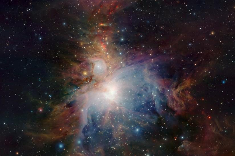 Infrared view of the Orion Nebula ...