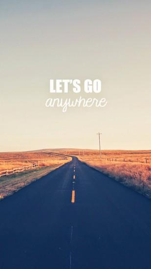 Go Anywhere Road #iPhone #6 #plus #wallpaper