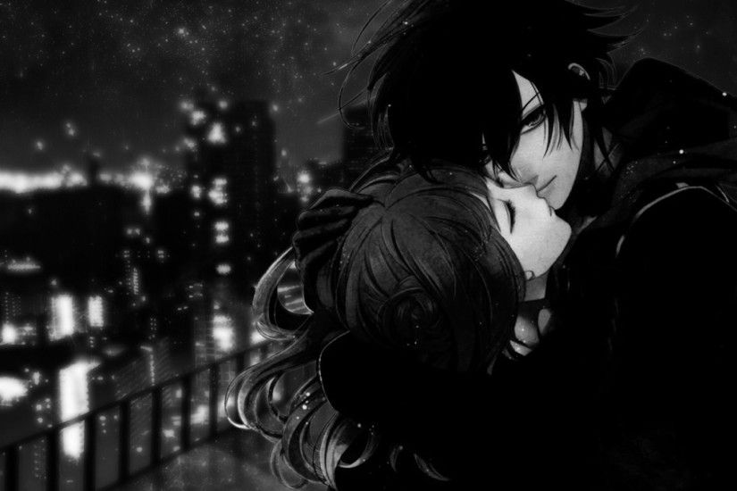 Black White Anime Love Picture #7454 Wallpaper