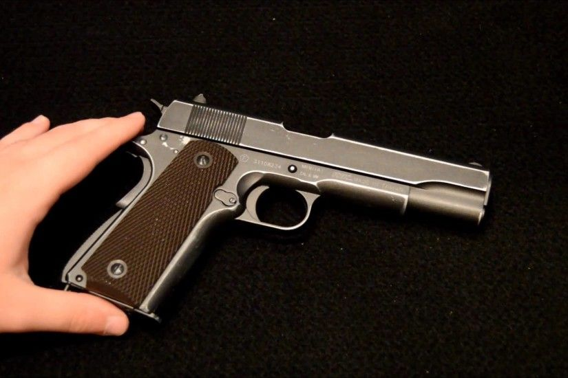 limited Edition Cybergun Colt 1911 A1 D-Day Anniversary Pistol - YouTube