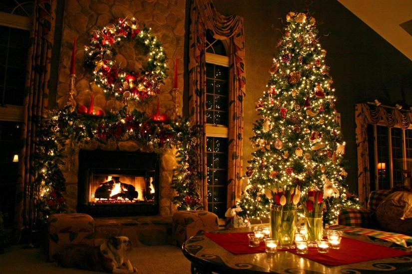 widescreen christmas tree wallpaper 3072x2048 large resolution