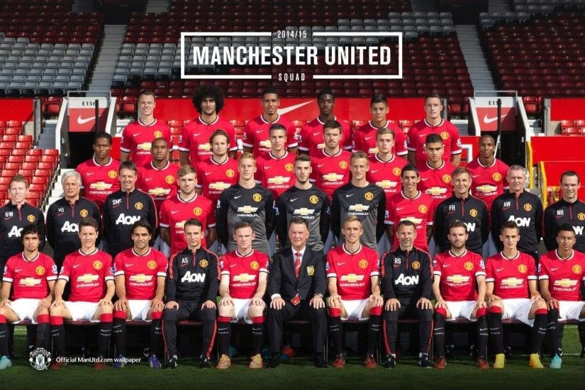 Manchester United 2014-2015 Squad Photo Wallpaper Wide or HD .