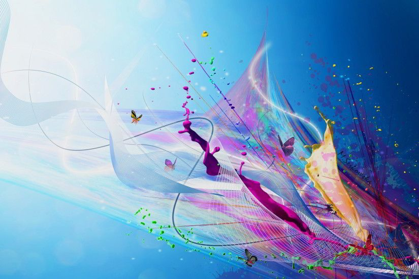 Tags: 1920x1200 Splash Paint Cool. Category: Abstract