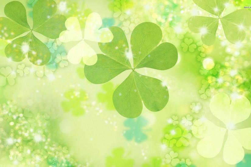 Wallpapers For > Irish Clover Background