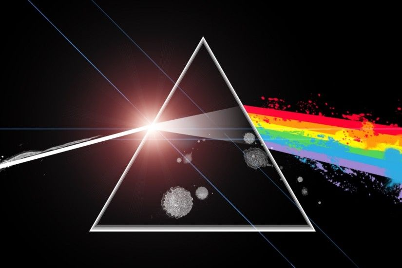 Preview wallpaper pink floyd, light, triangle, rainbow, graphics 2048x2048