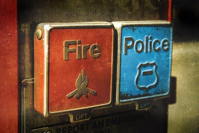 Fire police emergency buttons contradiction wallpaper | 1920x1080 | 203811  | WallpaperUP