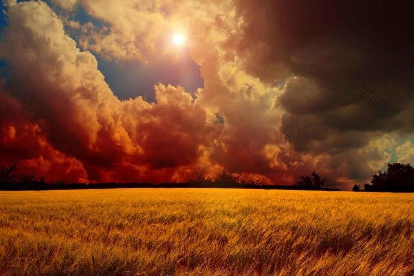Landscapes Sun Sky Landscape Field Art Wheat Cgi Cloud Digital Manipulation  Nature HD Wallpapers For Laptop