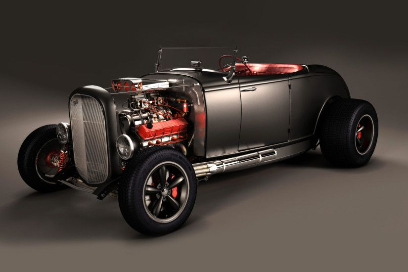 Hot Rod Car | ford-32-hot-rod-car-wallpaper-
