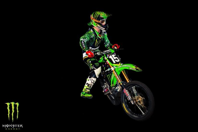 Monster Energy Motocross Freestyle Wallpaper
