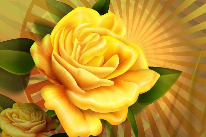 Yellow Rose HD Desktop Background Wallpaper