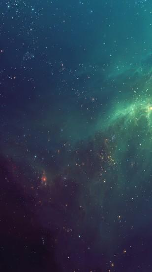 7158 16: Fantasy Shiny Starry Green Nebula Starry Space Skyscape iPhone 7  wallpaper: Retina iPhone 6 Wallpaper